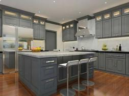 Classic Grey Kitchen Cabinets-Sample door-RTA-All wood, in s