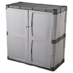 Rubbermaid Commercial Grey/Black Double-door Storage Cabinet