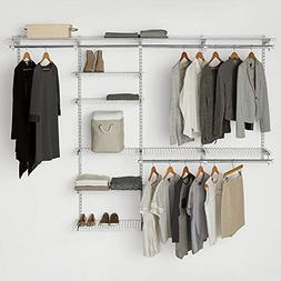 configurations white deluxe closet kit