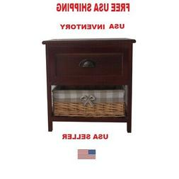 Contemporary Wood Cabinet End Table Side table FREE Shipping