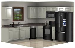 Cream Colored Kitchen Cabinets 10x10 Painted W Glaze Free Sh