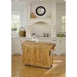 Home Styles Create-a-Cart Natural Finish with Wood Top - 920