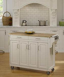 Home Styles Furniture Create-a-Cart White Finish with Wood T