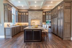 Custom All Wood Kitchen Cabinets Quote Stone + Chocolate Gla