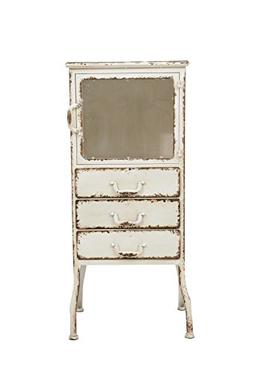 Creative Co-op Metal Cabinet with 3 Drawers