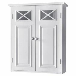 Dawson Wall Cabinet with Two Doors and Shelves