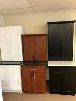 Direct Cabinet Supply kitchen cabinets, cherry, black, or wh