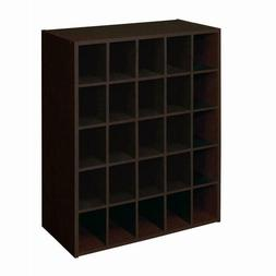 display stackable 25 cube cubby shoes storage