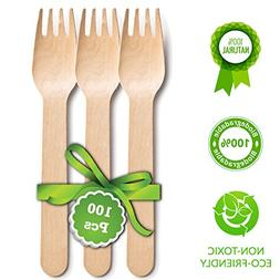 """Disposable Wooden Forks
