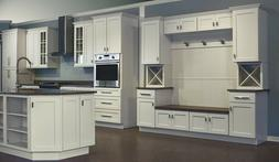 Dover White Shaker Collection JSI 10x10 kitchen cabinets, Ki