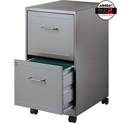 Lorell 16873 2-Drawer Mobile File Cabinet, 18-Inch Depth - G