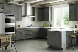 Driftwood Gray Shaker Kitchen Cabinets-SAMPLE RTA-All wood,