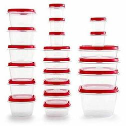 Rubbermaid Easy Find Vented Lids Food Storage Containers, Se