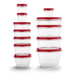 Rubbermaid Easy Find Vented Lids Food Storage Containers, 24