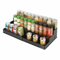 mDesign Expandable Kitchen Cabinet, Pantry Organizer/Spice R
