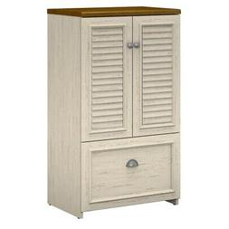 Bush Furniture Fairview Storage Cabinet with Drawer in Antiq