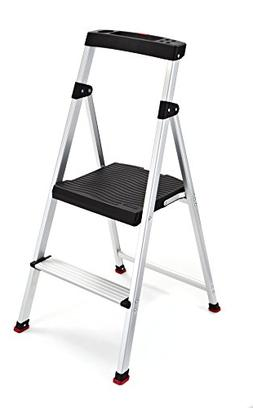 Folding 2 Step Ladder Lightweight Aluminum Stool 225 Lb Home