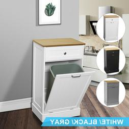 Kitchen Trash Storage Cabinets Free Standing W/Removable Bam