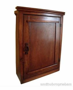 Handmade Mission  Arts/Crafts Style Tapered Wood Wall Cabine