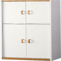 """Ameriwood Home Hannah 72"""" Kitchen Pantry Cabinet, White 3 Ad"""