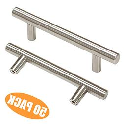 "Probrico 3-3/4"" Hole Centers Euro Bar Cabinet Pulls Stainle"