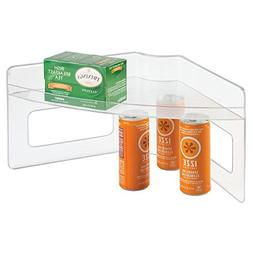 mDesign Home Kitchen Lazy Susan Storage Shelf with Handle fo