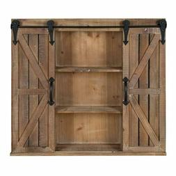 Kate And Laurel Cates Wood Wall Storage Cabinet With Two Sli