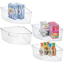 mDesign Kitchen Cabinet Plastic Lazy Susan Storage Organizer