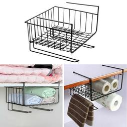 Kitchen Cabinets Interlayer Metal Hanging Basket Storage Rac
