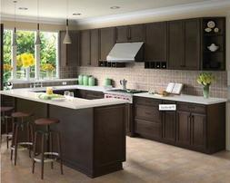 Forever Mark Kitchen Cabinets K-Espresso Glaze All Wood Sale