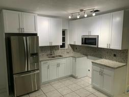 Kitchen Cabinets, solid Wood White Shaker, Gray, Coffee, Wen