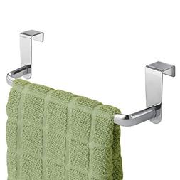 mDesign Kitchen Over Cabinet Metal Towel Bar - Hang on Insid
