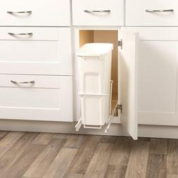 Kitchen Slide Pull Out In Kitchen Cabinet Trash Can Waste Co