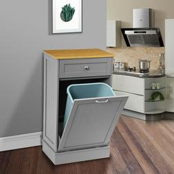 Kitchen Trash Storage Cabinet Can Tilt Out Free Standing Bam