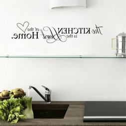 kitchen words wall quote stickers cake cafe