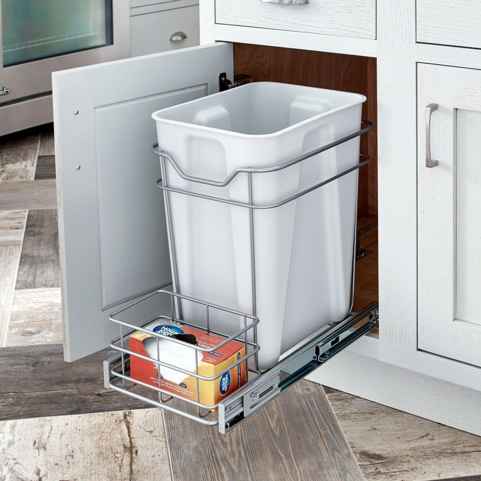 24 qt cabinet pull out trashcan trash