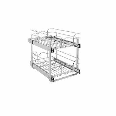 """Rev-A-Shelf 5WB2-1822 Chrome 5WB Series 18"""" Double Pull Out"""