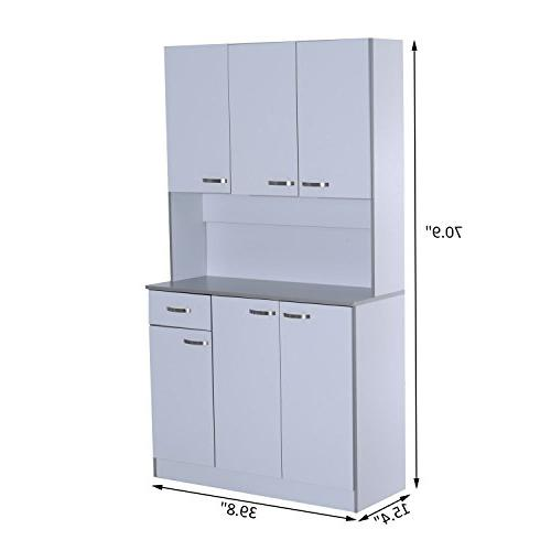 HOMCOM Freestanding Kitchen Buffet with Server and