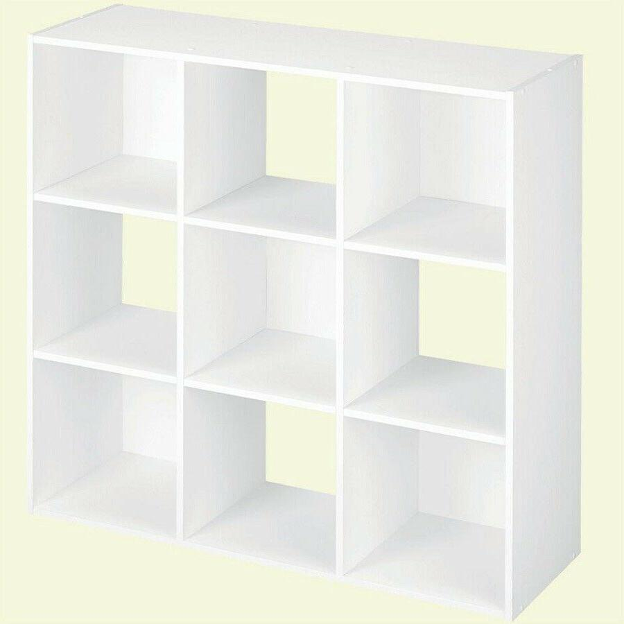 Closetmaid 9 Compartment White Laminate Storage Cubes Organi