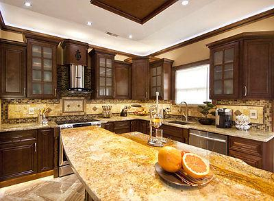 """90"""" Cabinets All Wood Wall and Kitchen Geneva KCGN21"""