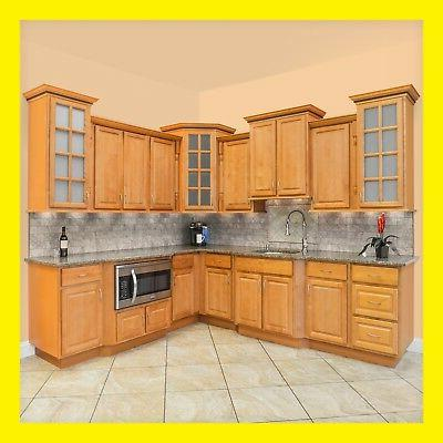 kitchen cabinets richmond all wood honey stained