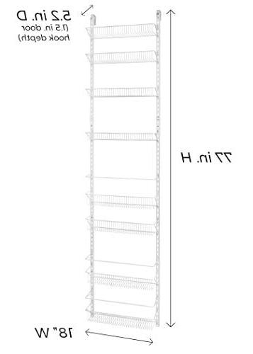 ClosetMaid Adjustable 8-Tier Wall Rack, 77-Inch Wide