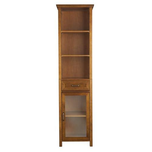 Elegant Home Fashion Anna Linen Cabinet with Drawer and 3-Sh