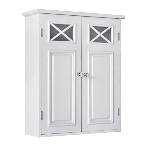 Elegant Home Collection Shelved Wall White