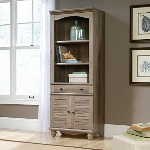 "Sauder Library with L: 27.21"" 17.48"" x H: Oak"
