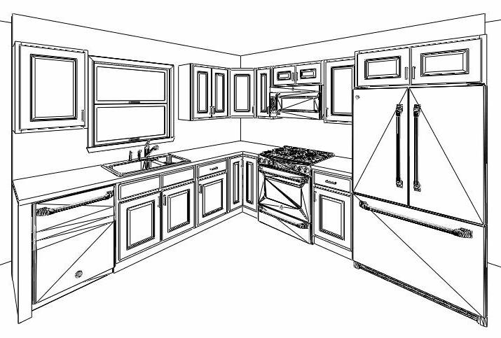All Traditional Sierra Brown Kitchen Cabinets