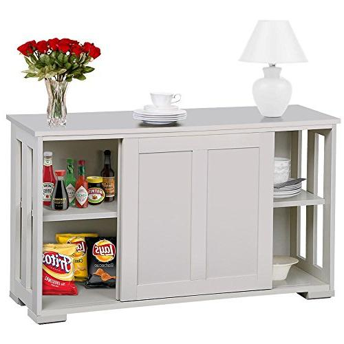 go2buy Antique White Stackable Sideboard Storage Cabinet with Door Dining