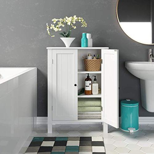 Homfa Cabinet, Free Cabinet Storage with Doors and Adjustable