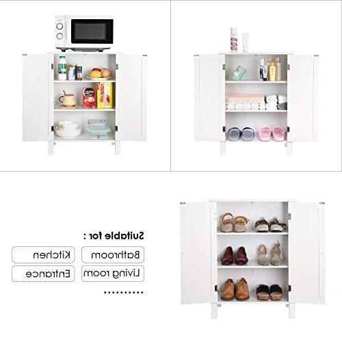 Homfa Free Cabinet Storage Organizer Doors Adjustable for