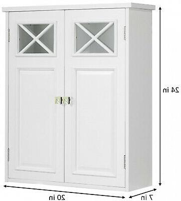 Bathroom Wall Cabinet Adjustable Shelf w/Doors